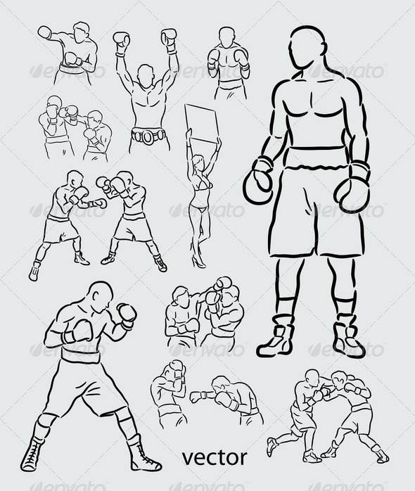 GraphicRiver Boxing Sketches 5021839