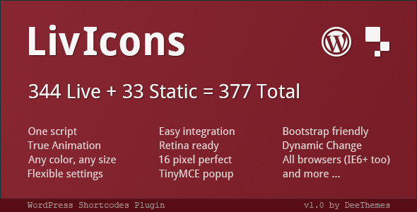 CodeCanyon LivIcons for WordPress Animated Vector Icons 5003666