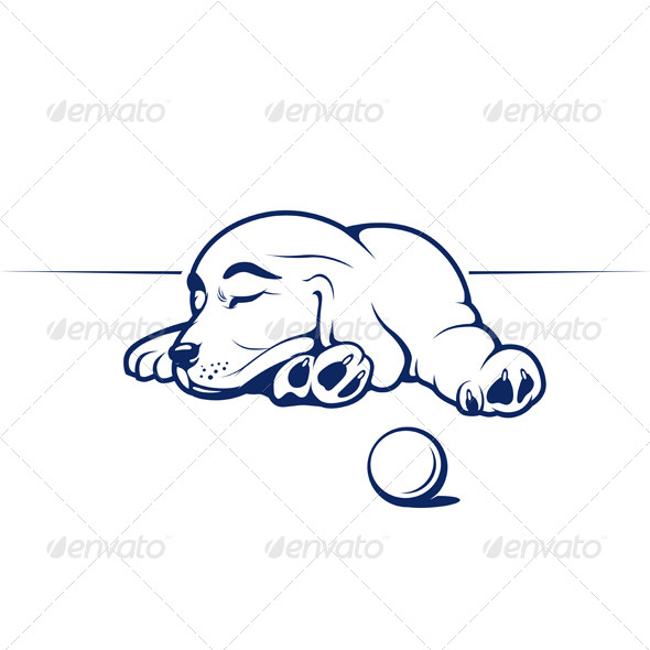 GraphicRiver Sleeping Cute Puppy Dog 4947937