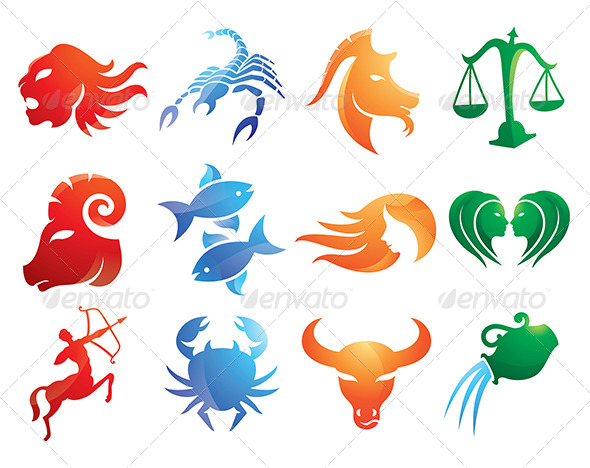 GraphicRiver Abstract Zodiac Signs Designs Pack 5022623