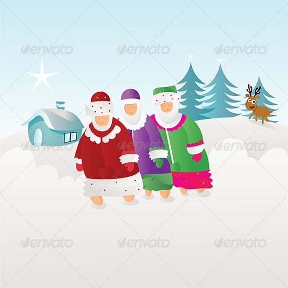 GraphicRiver People Enjoying Winter Season 5022633