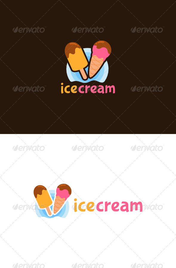 GraphicRiver Ice Cream Logo 4987541