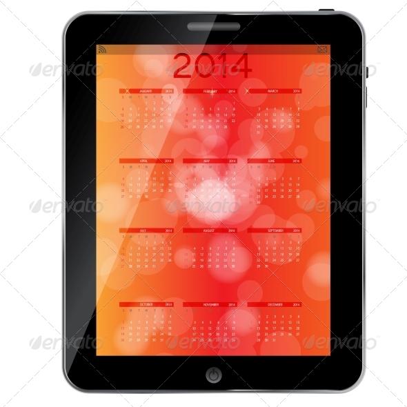 GraphicRiver 2014 New Year Calendar Vector Illustration 5023711