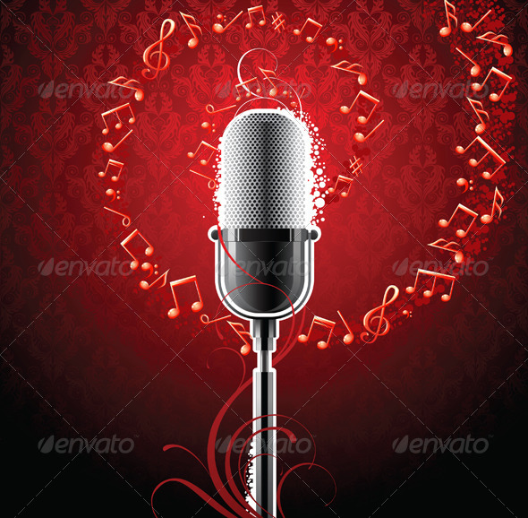 GraphicRiver Musical Background 5008463