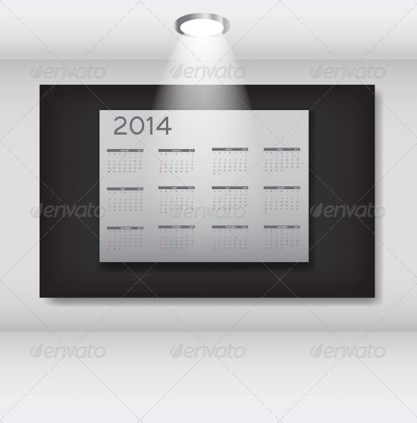 GraphicRiver 2014 New Year Calendar Vector Illustration 5023893