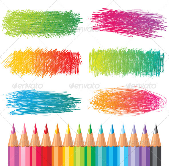 GraphicRiver Colorful Pencil Drawings 5024341