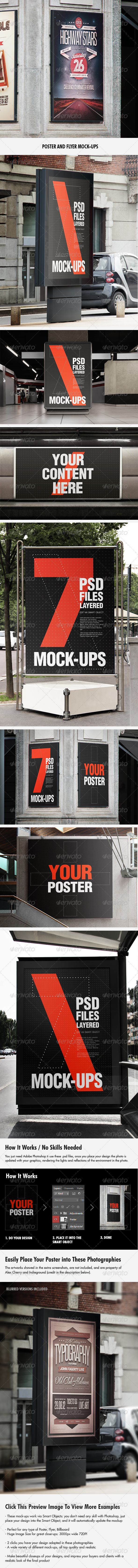 Flyer and Poster Urban Mock-ups - Set Pack - Posters Print
