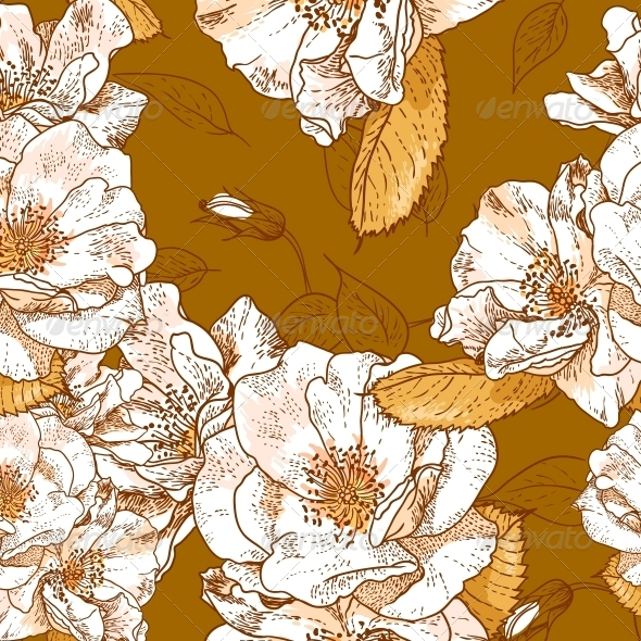 GraphicRiver Seamless Floral Pattern 5024482