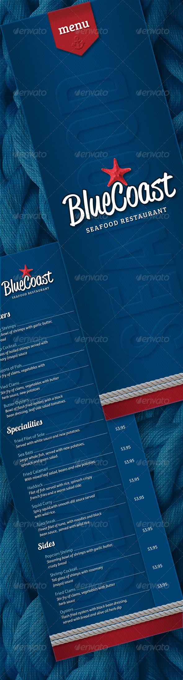 GraphicRiver Seafood Restaurant Menu 5024952