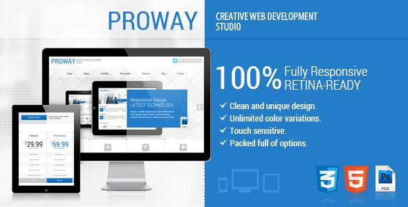 ThemeForest ProWay Responsive Multipurpose HTML5 Template 5023076