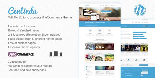 ThemeForest Centindu Portfolio & Shop WordPress Theme 5017521