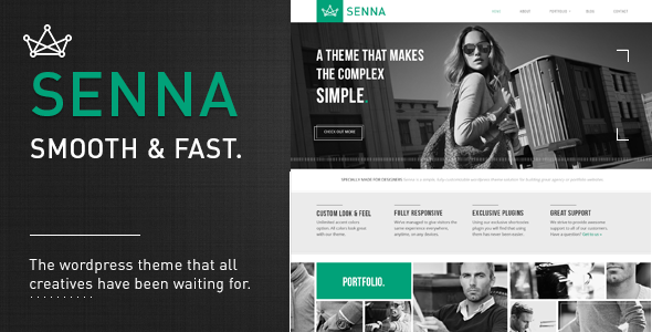 Senna - Responsive Portfolio/ Blog WordPress Theme