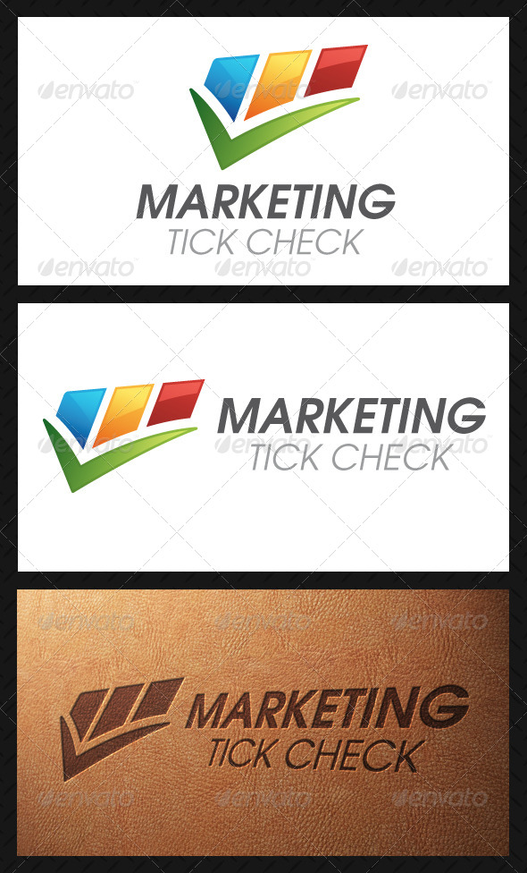 Marketing Tick Check Mark Logo Template - Symbols Logo Templates