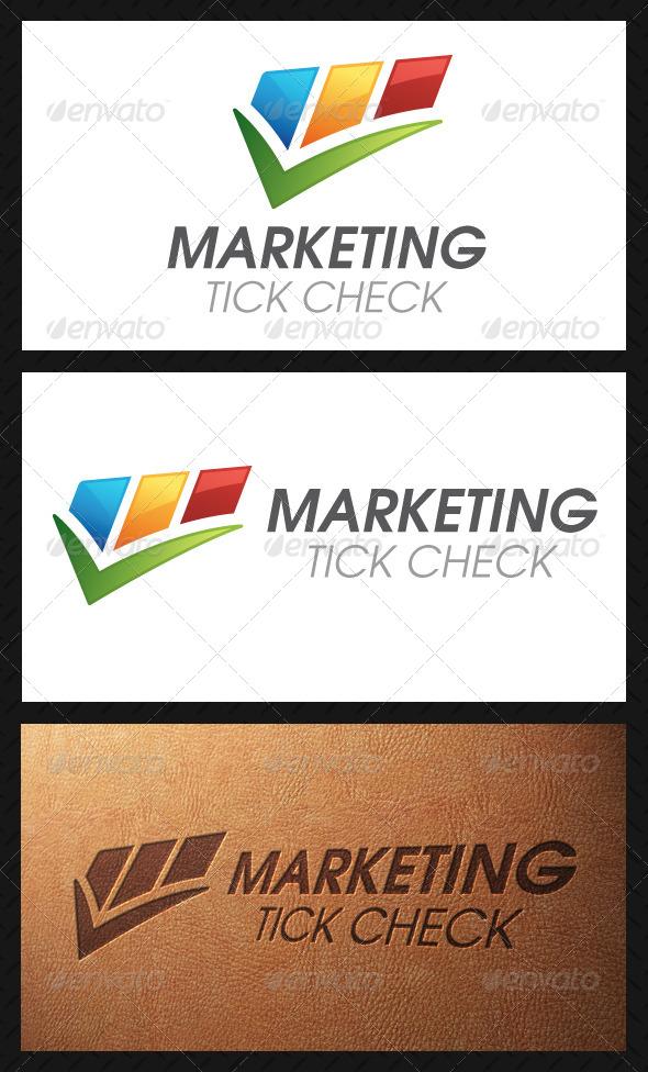 GraphicRiver Marketing Tick Check Mark Logo Template 5026220