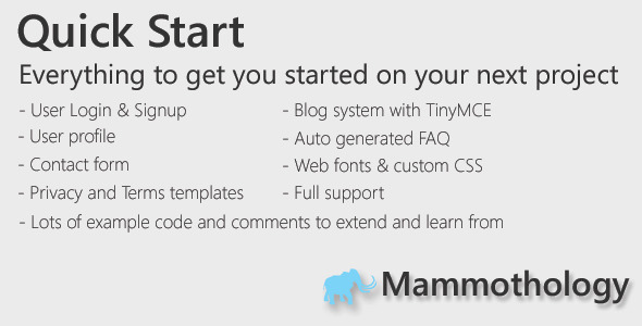 CodeCanyon Website Quick Start 5018382