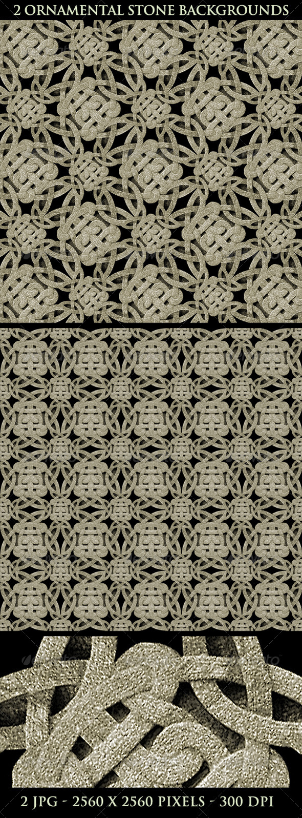 GraphicRiver Ancient Ornamental Stone Background Pattern 5026353