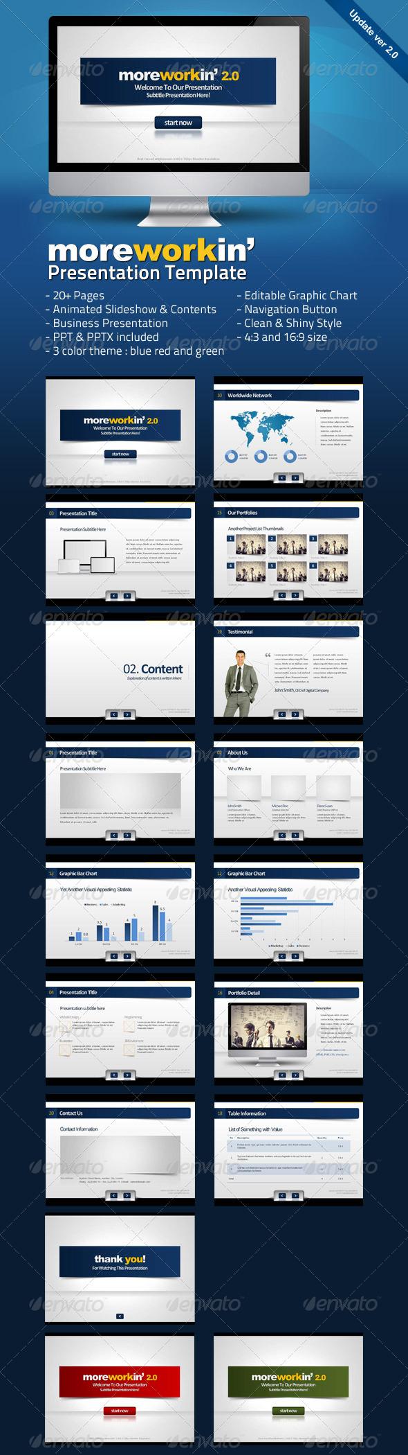 Moreworkin Business Powerpoint Presentation - Business Powerpoint Templates