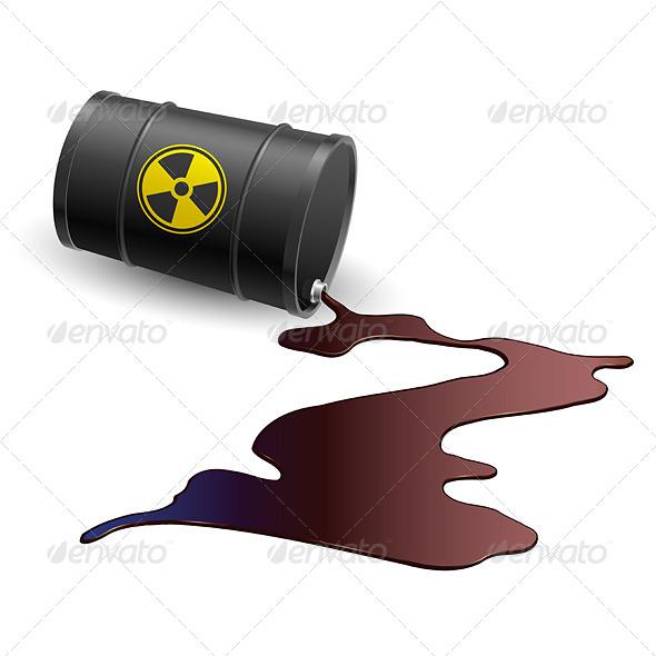 GraphicRiver Barrel with Toxic Liquid 5026490