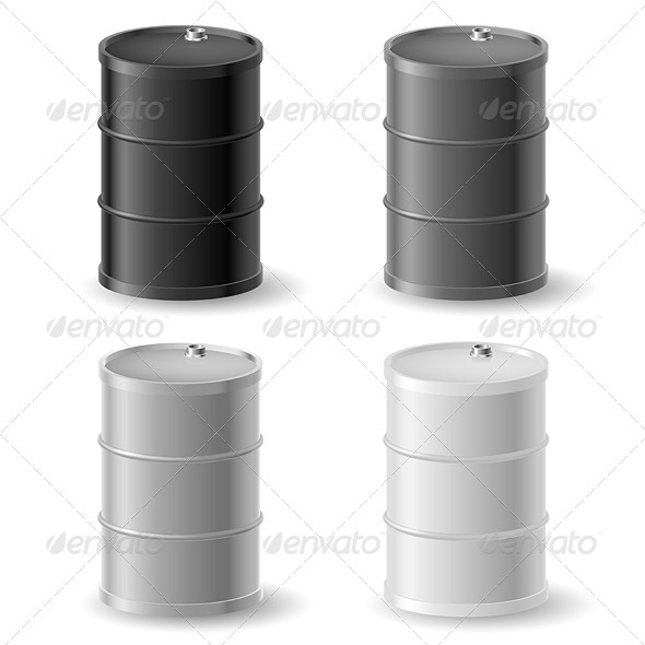 Oil Barrels Icon Set