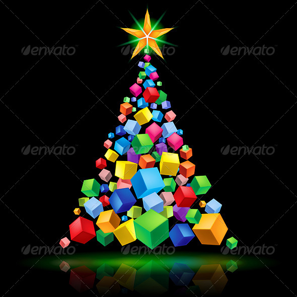 GraphicRiver Abstract Christmas tree 5026817