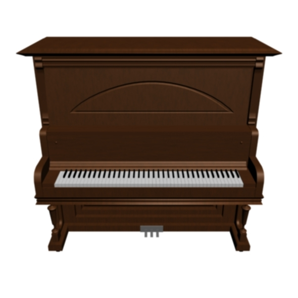classic piano with texture - 3DOcean Item for Sale