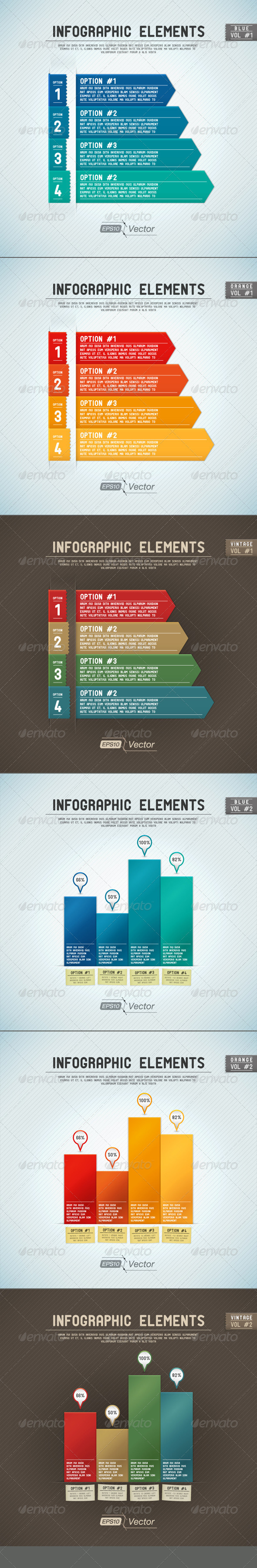 GraphicRiver Infographic Elements Two Kind Of Bar Graph 5026982
