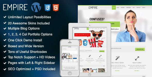ThemeForest Empire Responsive Multi-Purpose Theme 5027053