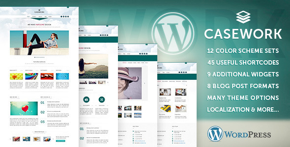 ThemeForest Casework WP Design Studio Portfolio & Blog Theme 4974260