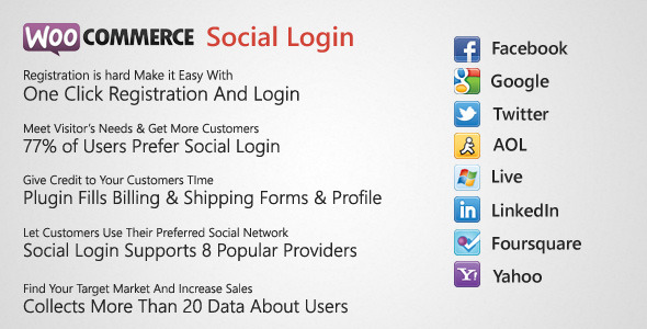 WooCommerce Social Login i plugin Checkout - Item WorldWideScripts.net na sprzedaż