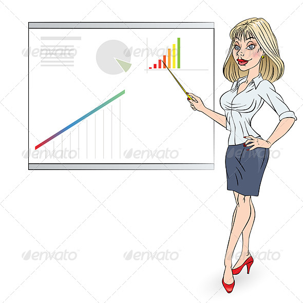GraphicRiver Business Woman 5027344