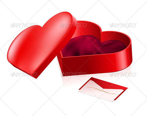 GraphicRiver Red Heart Shaped Box 5027677