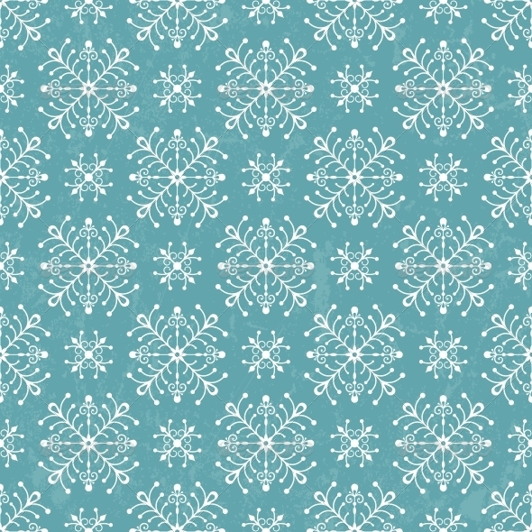 GraphicRiver Seamless Pattern with Stylized Snowflakes 5027735