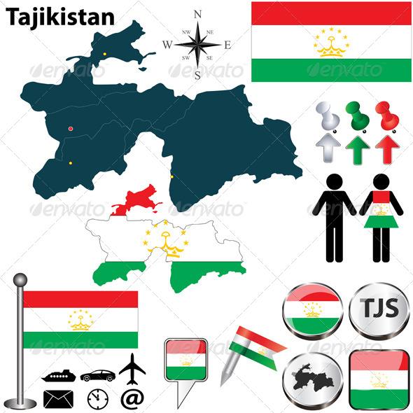 GraphicRiver Map of Tajikistan 5027745