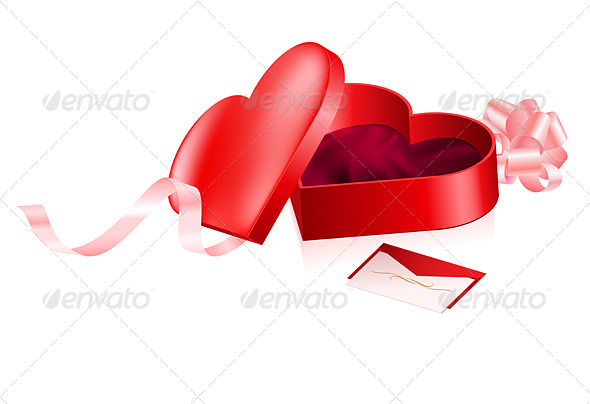 GraphicRiver Red Heart Shaped Box 5028072