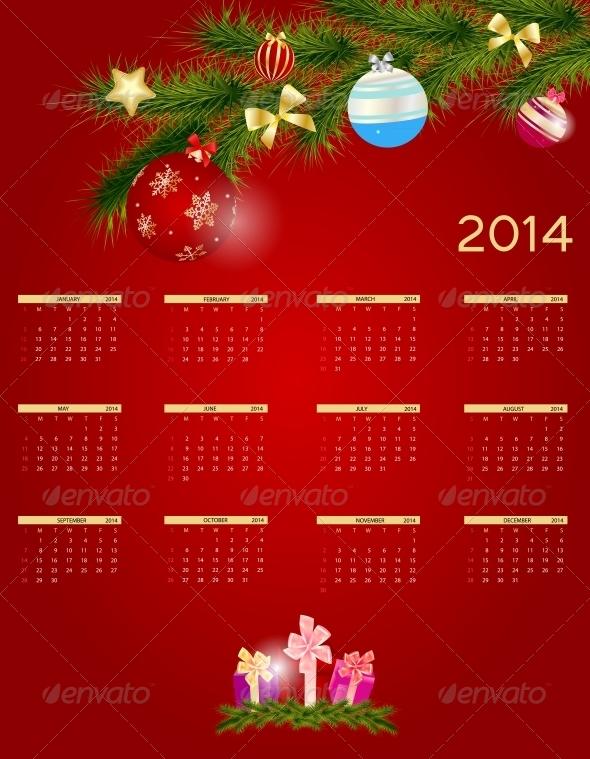 2014 New Year Calendar