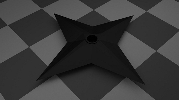 3DOcean Low Poly Shuriken 5021388