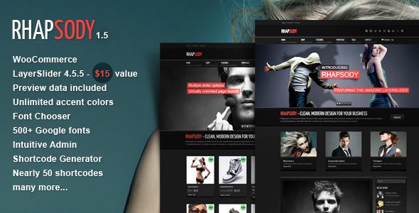 View live Demo for Rhapsody - Woocommerce Multi Purpose WordPress e-commerce Theme