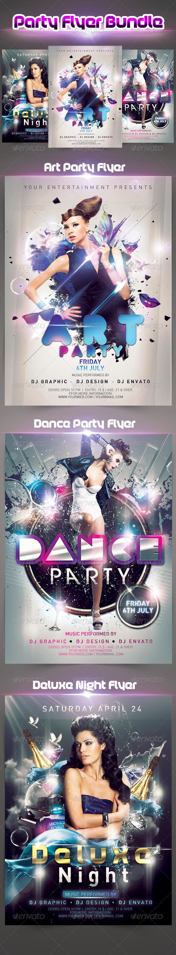 GraphicRiver Party Flyer Bundle 5028233