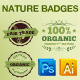 Green Nature Badges Vector Elements - GraphicRiver Item for Sale