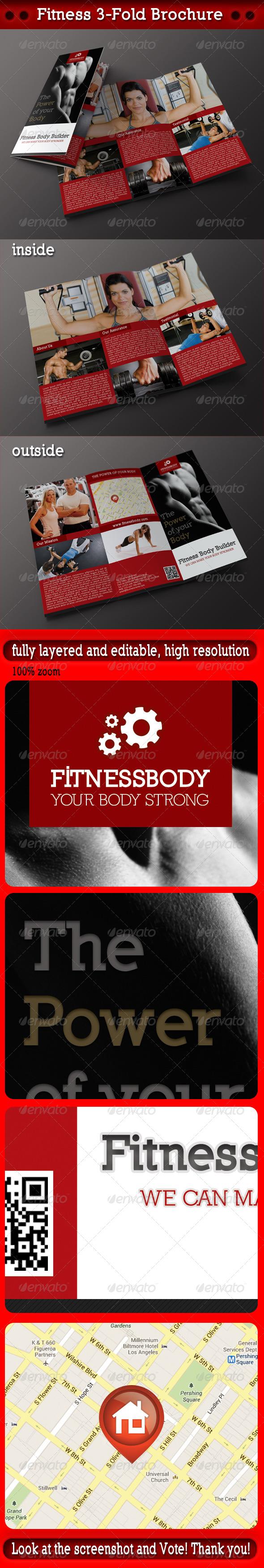 GraphicRiver Fitness 3-Fold Brochure 5028392