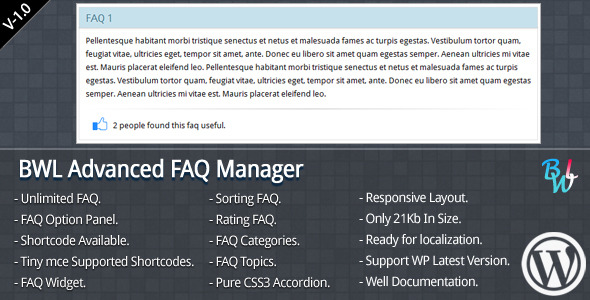 CodeCanyon BWL Advanced FAQ Manager 5007135