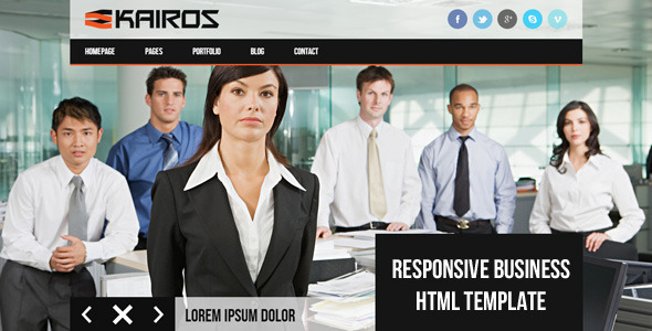 ThemeForest KAIROS Responsive Multipurpose Business Template 4961179