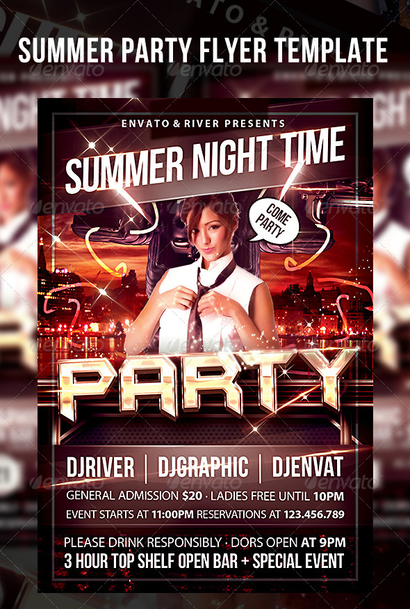 GraphicRiver Summer Party Flyer Template 4972826