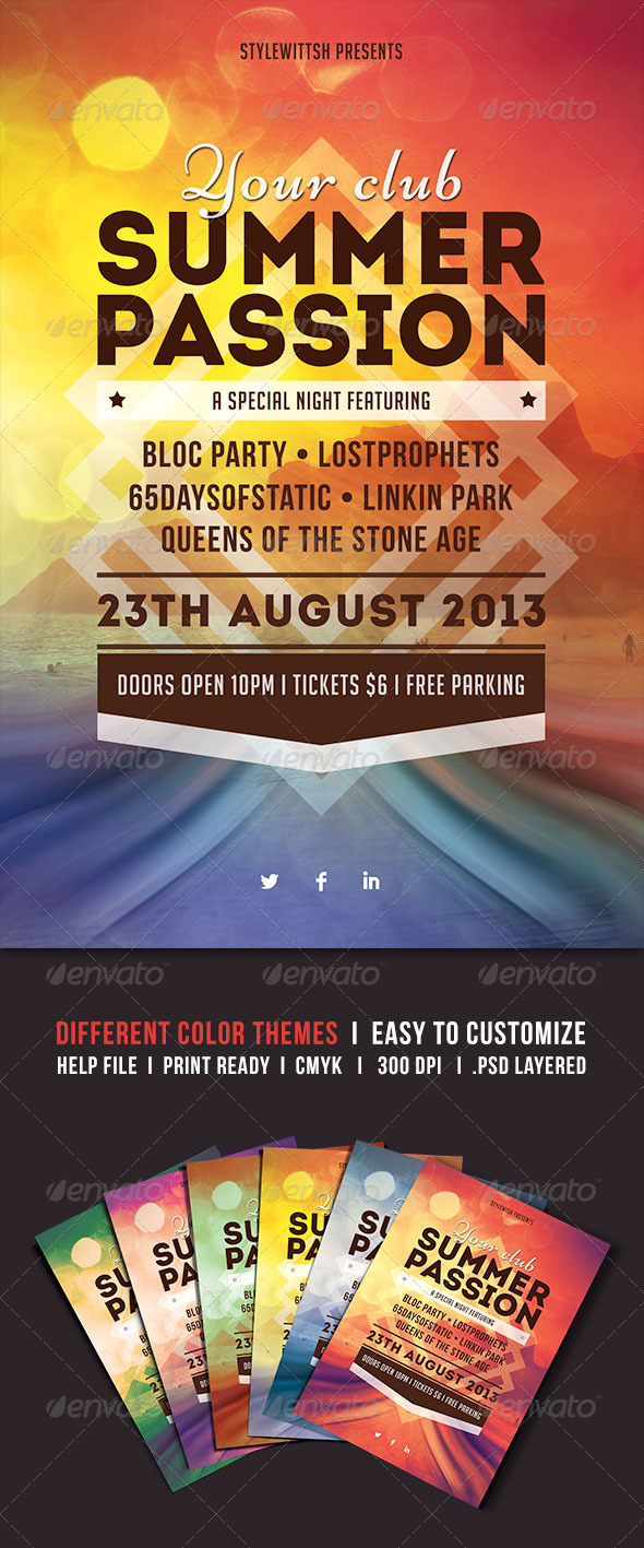 GraphicRiver Summer Passion Flyer 5030086