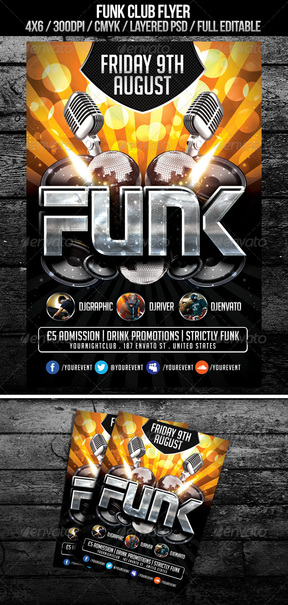 GraphicRiver Funk Club Flyer 4976784