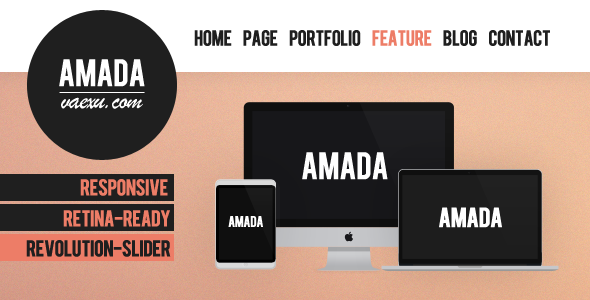 ThemeForest Amada Flat and Fresh WordPress Theme 5014988