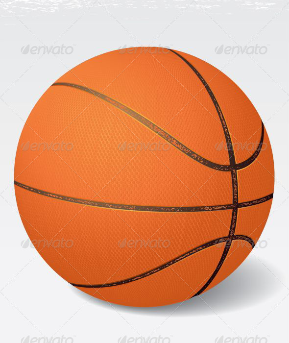 GraphicRiver Realistic Vintage Vector Basketball 5030456