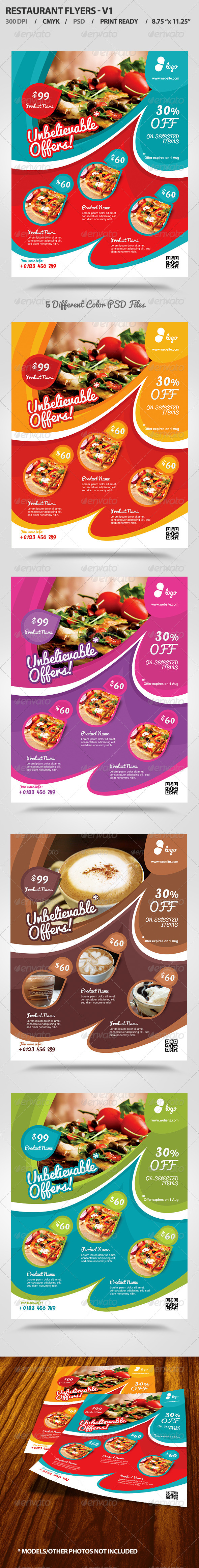 GraphicRiver Restaurant Flyer v1 5030465