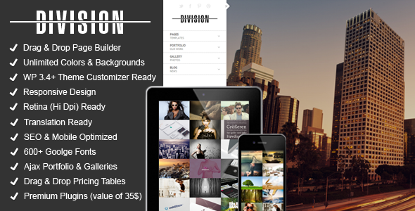 ThemeForest Division Fullscreen Portfolio Photography Theme 5030589