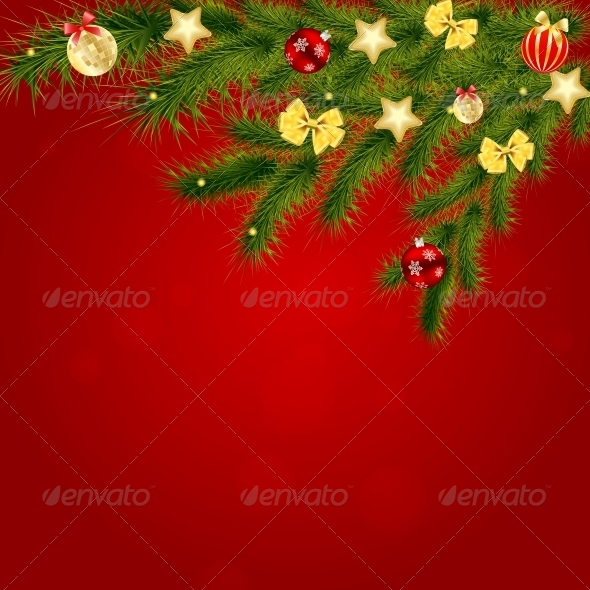 GraphicRiver Christmas and New Year Background 5030668